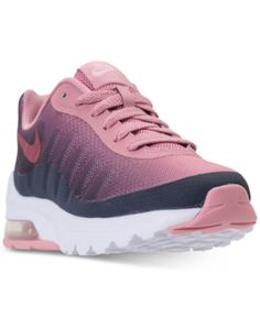 los angeles 643b9 5d6b8 Nike Girls  Air Max Invigor Print Running Sneakers from Finish Line - Black  6.5 Nikes