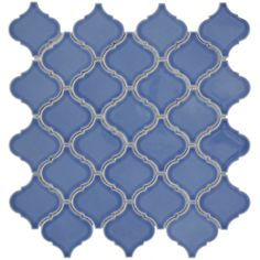 SomerTile 12.5x12.5-in Morocco Blue Porcelain Mosaic Tile (Pack of 10) | Overstock.com Shopping - The Best Deals on Wall Tiles