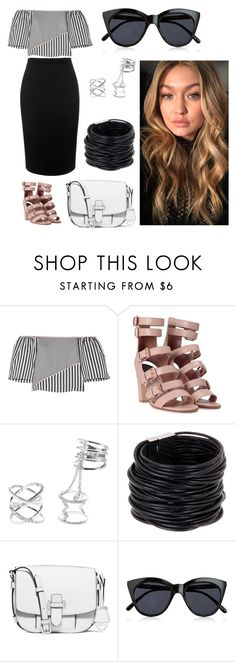 """Untitled #228"" by miiirrra ❤ liked on Polyvore featuring La Ligne, Laurence Dacade, Charlotte Russe, Saachi, MICHAEL Michael Kors, Le Specs and Alexander McQueen"