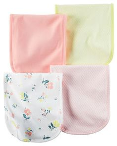4-Pack Burp Cloths