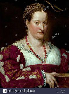 Portrait of a woman 1550 Painting of Prospero Fontana (16th century) Italy Italian Stock Photo