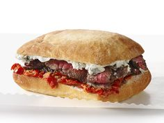 Steak Sandwiches With Blue Cheese and Peppadew Mayo Recipe : Food Network Kitchens : Food Network - FoodNetwork.com