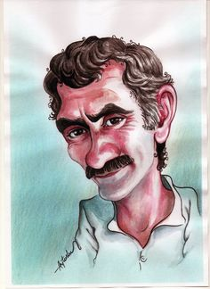 More professionals named Yılmaz Güney – Mhmt Cvk – Join in the world of pin Cover Design, Ocean Pictures, Celebrity Caricatures, Cartoon Sketches, Comic Drawing, Beautiful Drawings, Screen Wallpaper, Nostalgia, Digital Art