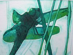 Dragon Fly II (Original Collagraph and Dry Point Hand Pulled Artist Print)