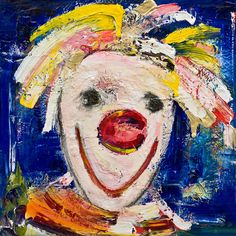 Marianne Aulie - Fri  * Clown Images, Edvard Munch, Art Work, Fine Art, Texture, Abstract, Canvas, Painting, Kunst