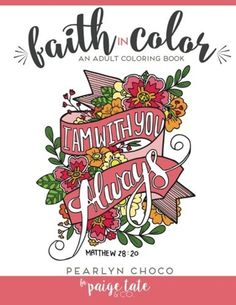 Beautiful Pages Coloring for Adults Faith in Color Imagination Design Gifts 70