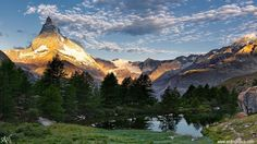 Cervino col Grindjisee, Svizzera
