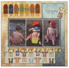 Another cute summer page - love the popsicles