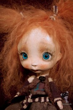 Original sculpted ,art doll Missy,handmade by Chrishanthi,Ppinkydolls OOAK