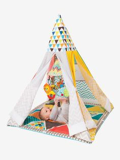 The Infant-to-Toddler Play Gym & Fun Teepee is a multi-functional gym that grows with your little one, transforming from an infant gym to a pretend play. Toddler Play, Baby Play, Baby Kids, Infant Toddler, Play Teepee, Teepee Kids, Teepee Tent, Teepees, Baby Gym