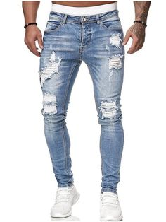 Harem Pants Men, Denim Pants Mens, Slim Pants, Jeans Pants, Skinny Biker Jeans, Ripped Denim, Jeans Fit, Jogging, Mens Sweatpants