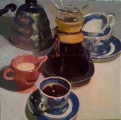 "Jumpin' Java by Dennis Perrin Oil ~ 12"" x 12"""