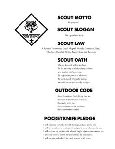 Cub Scouts Outdoor Code Amp Leave No Trace Principles For