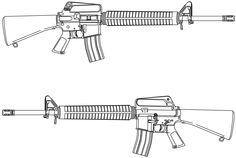 rifle - Wikipedia, the free encyclopedia M16 Rifle, Assault Rifle, Drawing Tips, Line Drawing, Manga Drawing, Drawing Tutorials, Kraken, Pirate Ship Tattoos, Ankle Tattoo Small