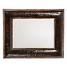 Howard Elliott Chevreuse Leather Mirror