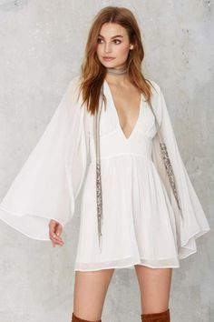 Nasty Gal Perfect Storm Plunging Mini Dress - Feminine Utilitarian | Going Out | Fit-n-Flare | LWD | Dresses