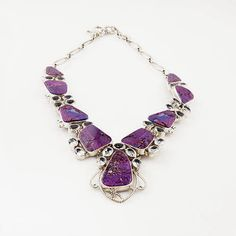 Purple Turquoise & Blue Topaz  Sterling Necklace. Starting at $1 on Tophatter.com!