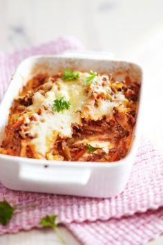 Bolognan perunavuoka | Italia | Pirkka Finnish Recipes, My Cookbook, Gluten Free Recipes, Lasagna, Food Inspiration, Love Food, Main Dishes, Food Photography, Food And Drink