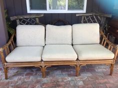 Vintage-Mcguire-Couch-Sofa-Bamboo-Rattan-1980s-Classic in Lafayette