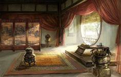 You may stay if you like Chinese history/art/culture/traditions. Asian Landscape, Fantasy Landscape, Chinese Background, Background Ideas, Ancient Chinese Architecture, Chinese Interior, Anime Places, Art Asiatique, Ancient Buildings