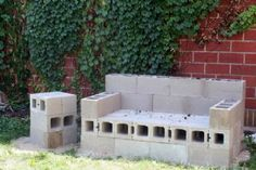 Upright Cinder Block Garden-I would just finish with some concrete and paint:)