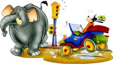 Goofy & Elephant Goofy Pics, Goofy Pictures, Mickey And Friends, Disney Wallpaper, Elephant, Clip Art, Draw, Caricatures, To Draw