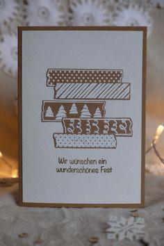 Handgemachte Weihnachtskarte Framed Scrapbook Paper, Paper Frames, Handmade Christmas, Holiday Cards, Cardmaking, Christmas Holidays, Birthday Cards, Greeting Cards, Place Card Holders