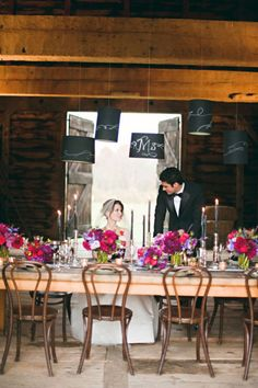 barn, farm table and bentwood chairs. Rustic Table, Rustic Chic, Hanging Lamp Shade, Lamp Shades, Diy Outdoor Weddings, Painting Lamps, Bentwood Chairs, Once In A Lifetime, Event Styling