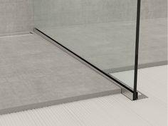 Perfil del borde de acero inoxidable para Suelos de cristal PERFIL GPS1 por PROFILPAS