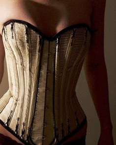 Spoon busk corded corset by JanesCorsets on Etsy, Nice.