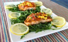 NEW: Whiskey-Glazed Salmon with Mango Habanero Chutney. Fancy dinner for two in less than 30 minutes.