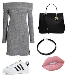 """""""Casual"""" by maffaldacunha on Polyvore featuring adidas, MICHAEL Michael Kors and Lime Crime"""