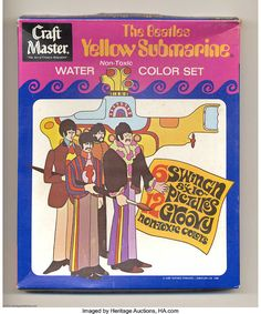 thegroovyarchives: 1968 Beatles Yellow Submarine Water Color. The Rock, Rock And Roll, I See Fire, Old Music, My Themes, Yellow Submarine, Record Collection, Vintage Toys, The Beatles