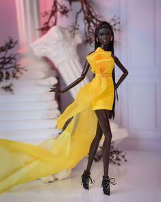 Imperium Dolls (@imperiumdolls) • Photos et vidéos Instagram African American Dolls, Poppy Parker, Black Barbie, Haute Couture Fashion, Beautiful Dolls, Doll Toys, Fashion Dolls, Wrap Dress, Instagram