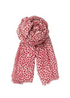 05366d03af3 Becksondergaard B Heartstopper Silk   Wool Mix Scarf in Blush Red