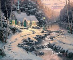 Thomas Kinkade - Evening Glow  1999