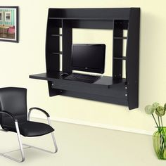 Wall Mounted Floating Desk With Storage Office Furniture Design Standing  Desk UK