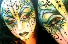 Venetian Mask V by BeccyBex on deviantART Mask Makeup, Sfx Makeup, Airbrush Makeup, Mask Face Paint, Face Paint Makeup, Halloween Make Up, Halloween Face Makeup, Exotic Makeup, Facial