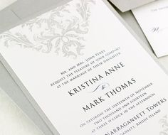 Damask Wedding Invitations Vintage Wedding by EdenWeddingStudio, $2.50
