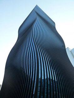 GT tower east, ArchitectenConsort ,nearby Gang-nam Station, Seoul, Korea.  looks like Mies distorted...