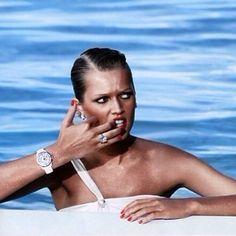 Blue, white and bling. #ToniGarrn #PoolsAndJewels #TheStoneSet
