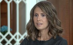 Asma al-Assad, the Syrian president's British-born wife in a .rare interview.OCT16