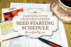 Develop a seed starting schedule so you know when to sow seeds and when to transplant seedlings to your vegetable garden.