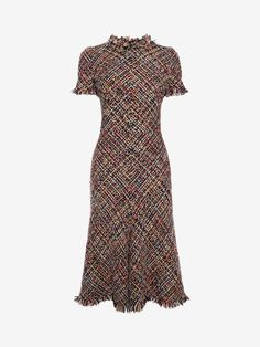 Alexander McQueen tweed A-line dress - Alexander McQueen tweed A-line dress - Alexander Mcqueen Dresses, Tweed Dress, Day Dresses, Pretty Dresses, Fashion Dresses, Dress Up, Short Sleeve Dresses, Womens Fashion, Fashion Design