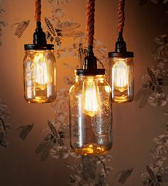 Mason Jar Hanging Light | Crafts For Home | Decor