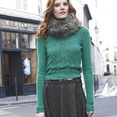 green sweater / fall fashion 2012