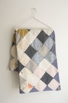 """""""rombi"""" quilt /// I love old-school patchwork quilts! --- [CH] /// TRAVEL THEME"""