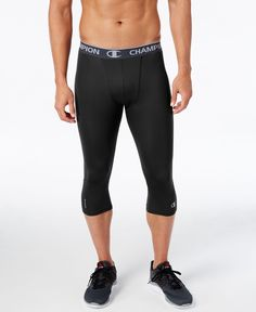 Champion Men s PowerFlex Compression Leggings Men - Pants - Macy s e3710f41e3