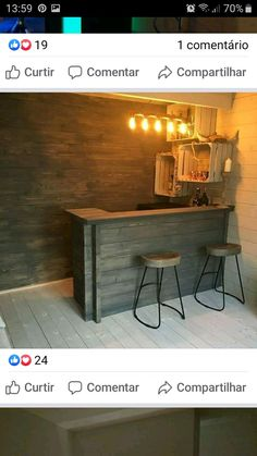 Rustic bar in the log cabin. What would you use .- Rustikale Bar im Blockhaus. Was würdest du verwenden … – Rustic bar in the log cabin. What would you use … – - Home Bar Rooms, Diy Home Bar, Bars For Home, Diy Bar, In Home Bar Ideas, Home Bar Plans, Basement Bar Designs, Home Bar Designs, Home Design
