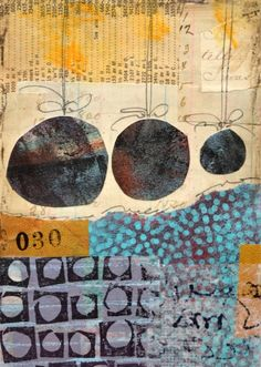 Mixed Media Collage, Collage Art, Collages, Wax Art, Encaustic Art, Small Words, Assemblages, Altered Books, Kunst